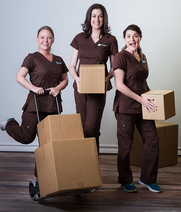 Professional organizing team