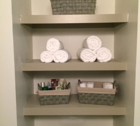 Bathroom Shelves After